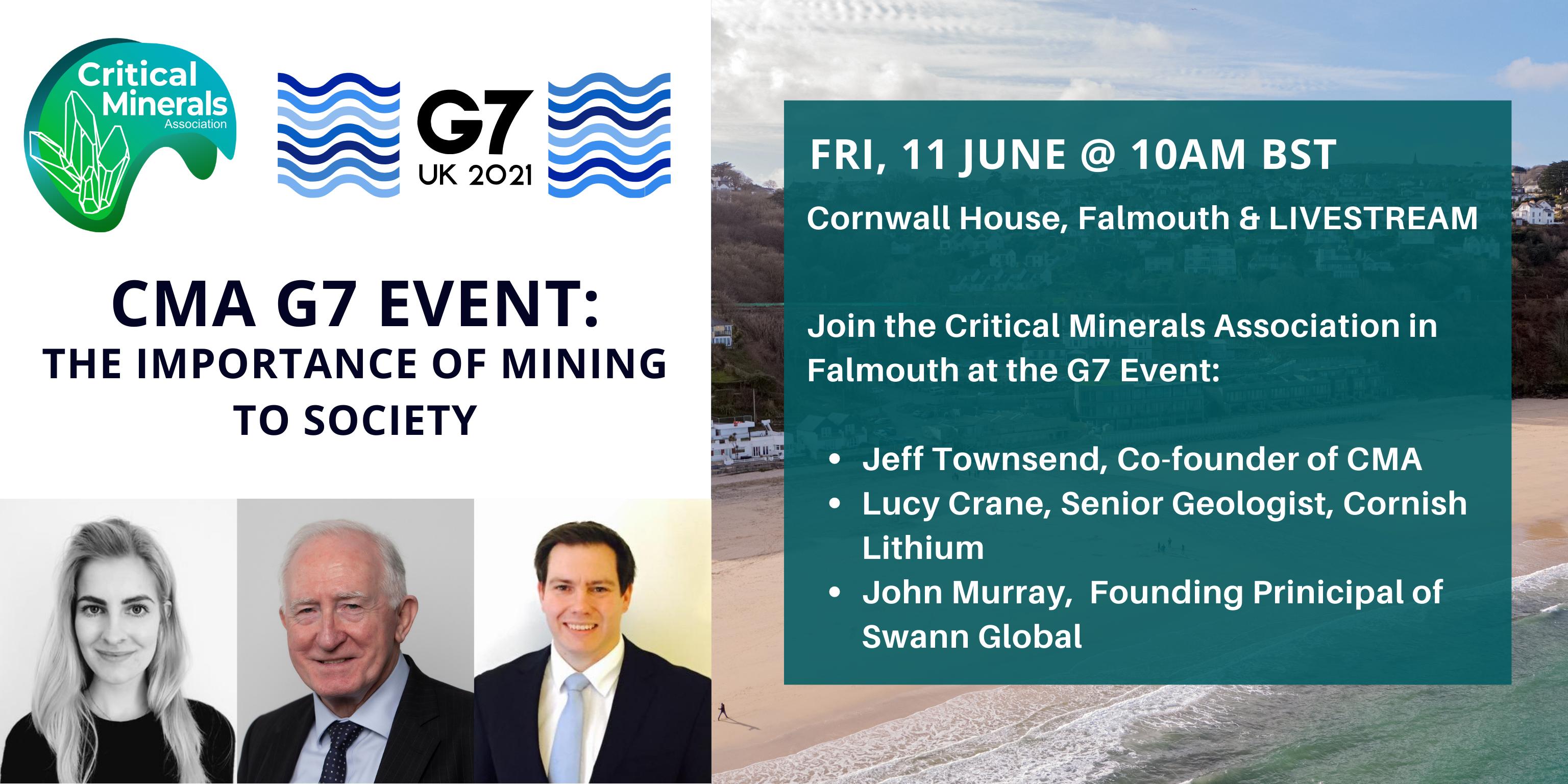 Critical Minerals Association G7 Event Poster